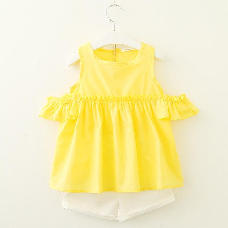 HTB1u2KtpS8YBeNkSnb4q6yevFXaT Menoea Girls Suits 2020 Summer Style Kids Beautiful Floral Flower Sleeve Children O-neck Clothing Shorts Suit 2Pcs Clothes