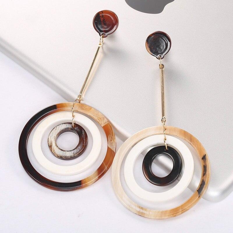 Venta al por mayor moda joyería de acrílico pendientes personalizado MOQ 120 pares y el tiempo de entrega de aproximadamente 20 días-in Pendientes de gotas from Joyería y accesorios    1