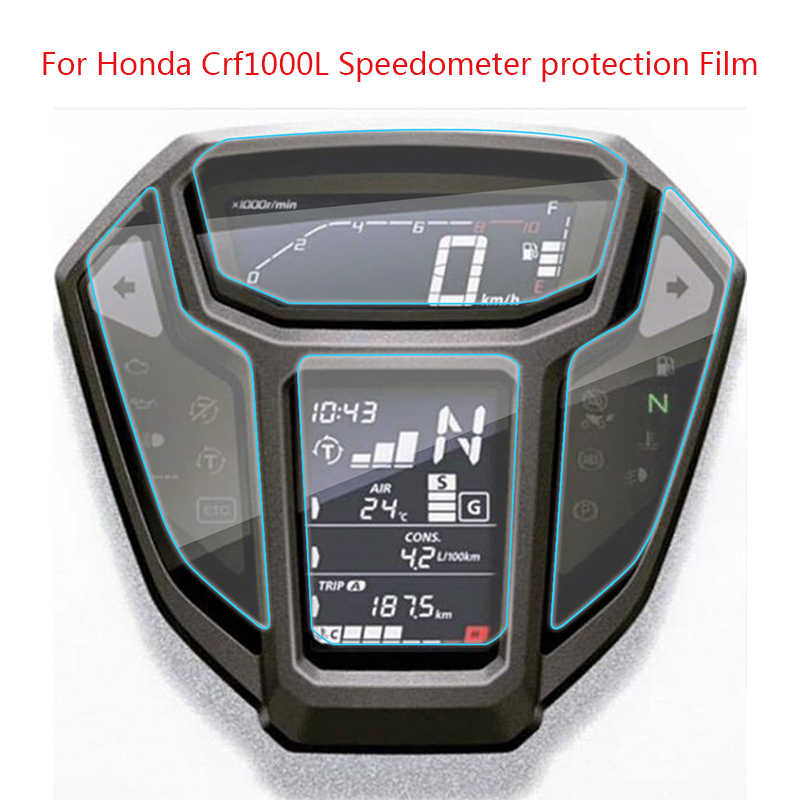 KEMiMOTO for HONDA AFRICA TWIN CRF1000L CRF 1000L Speedometer Protection film screen Anti Blue Light Cluster Scratch Sticker