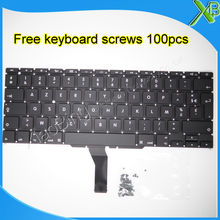 "Brand New For MacBook Air 11.6"" A1370 A1465 AZERTY FR French keyboard+100pcs keyboard screws 2010-2015 Years(China)"