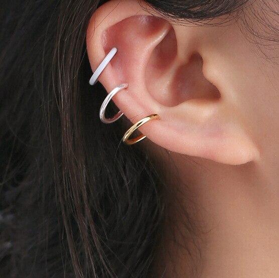 2018 Mode Kleinen Kreis Ohr Clips Keine Durchbohrten Ohrringe Minimalistischen Legierung Ohrringe Schmuck Großhandel R131 Exquisite Handwerkskunst;