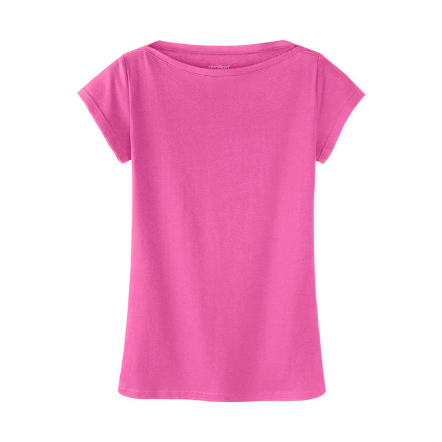 Many Colors Brief Cotton Tee Ladies Casusal Slash Neck Tops Women Basic Quality Summer Clothings Female Short Sleeve T Shirts