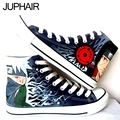JUP Men's Males Student Boys Couples Gift Footwear Cartoon Naruto Series Breathable Hand Painted Canvas High Top Lace-Up Shoes