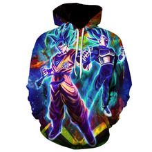 Super Dragon Ball Broly 3D Impresso Hoodies Mulheres/Homens de Manga Comprida Casuais Moletom Com Capuz Hot Sale Popular Streetwear Hoodies(China)