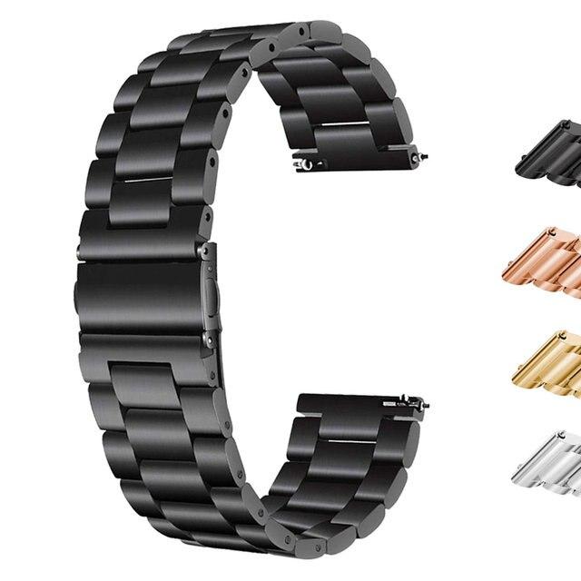 18 мм/22 мм/20 мм 24 мм Нержавеющаясталь ремешок для часов SAMSUNG Galaxy Watch 42 мм 46 Шестерни S3 Шестерни S2 классический quick release