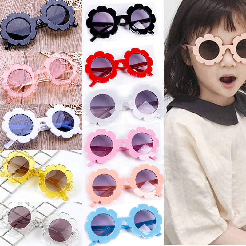 Cute Summer Baby Kids Sunglasses Plastic Frame Flower Goggles Eyeglasses Toddler Children Beach Accessories Toddler