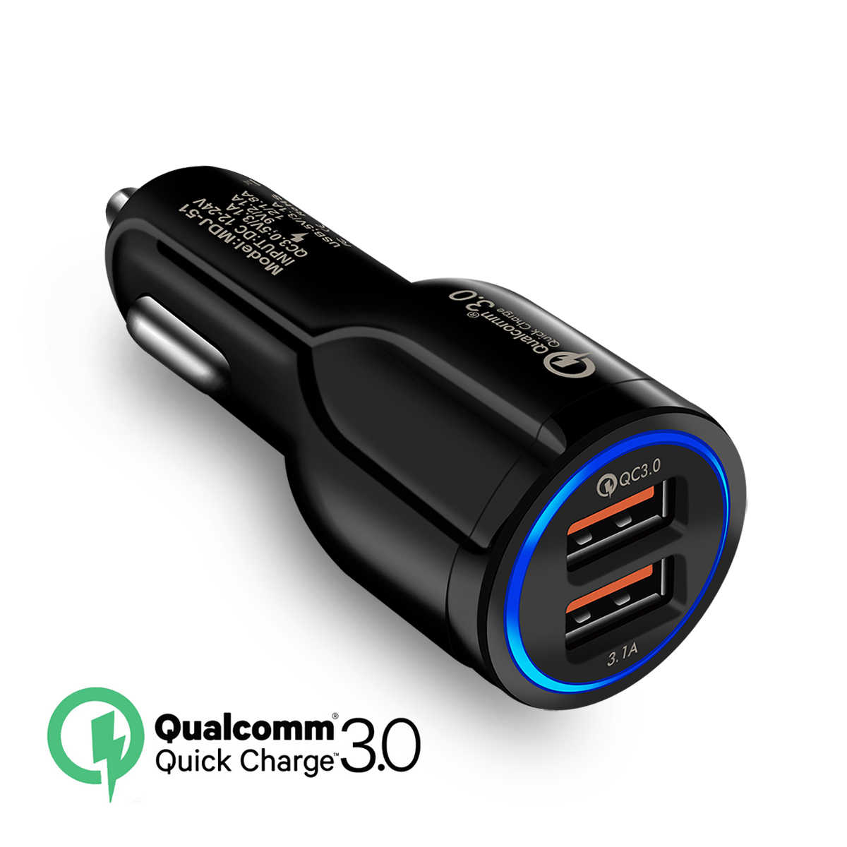 QC3.0 クイック車の充電アダプタユニバーサル携帯電話充電器 Iphone × 8 7 4 5 6 6s プラスサムスン Xiaomi 高速充電