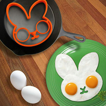 1PC Cartoon Rabbit Silicone Egg Rings Breakfast Molds Non-stick Frying Pancake Moulds Cooking Tools Kitchen Accessories