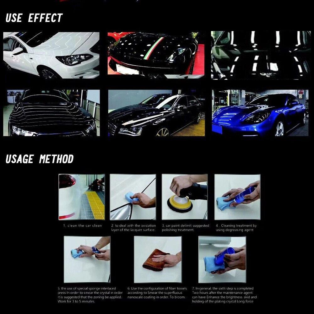 Car-styling 9H Car super hydrophobic Glass Coating Car Liquid ceramic Coat Motocycle Auto Paint Care Glasscoat Anti-scratch 2018
