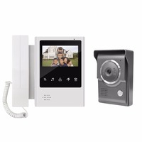 4 LCD Video Intercom Apartment Door Phone System 1 Monitor & 1 Doorbell Camera For 2 House Family Wholesale