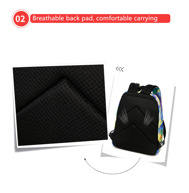 Fashion Women Waterproof Backpack School Bag Personality Printing Large  Capacity Girls Knapsack Back Packs Travelling Bags - us518 418d57e74d4b