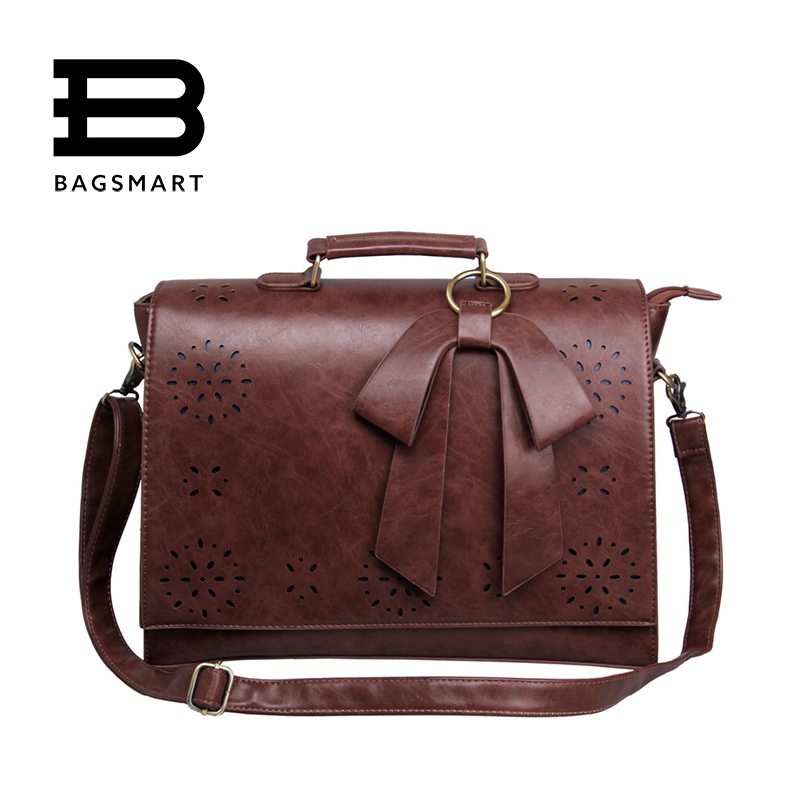 59a0cd2e97c4 BAGSMART 2017 New Vintage Women's Laptop Briefcase Satchels Bag ...