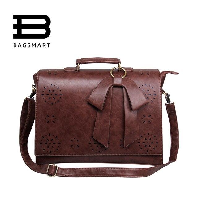 Merk Schoudertassen Dames : Bagsmart nieuwe vintage vrouwen laptop aktetas
