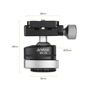 Image 3 - Andoer BK 25 Aluminium Alloy Tripod  BallHead Ball Head Mount Adapter with 1/4 inch or 3/8 inch screw MAX load 15kg/33lbs