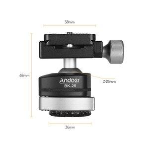 Image 3 - Andoer BK 25 adaptador de montaje de cabeza de bola de trípode de aleación de aluminio con tornillo de 1/4 pulgadas o 3/8 pulgadas carga máxima de 15kg/33lbs