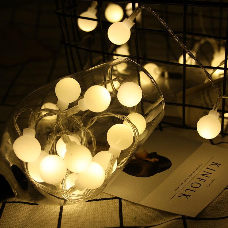 Holiday Lighting LED Ball String Lights 3.5M 20 LEDS Cherry Balls Warm White Battery Box Ball Fairy Lights Christmas Lights