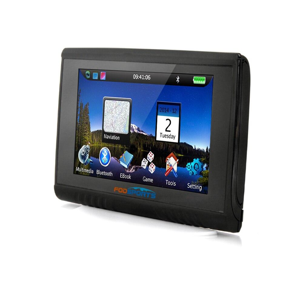 Fodsports 5 0 Inch 256MB 8GB IPX5 Waterproof Motorcycle Bluetooth GPS Navigation Moto GPS Navigator Free