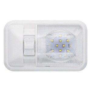 Image 2 - Auto LED Innen Dome Licht Warme Weiße Decke Lampe für 12V Camper Motor Home RV Marine Boot