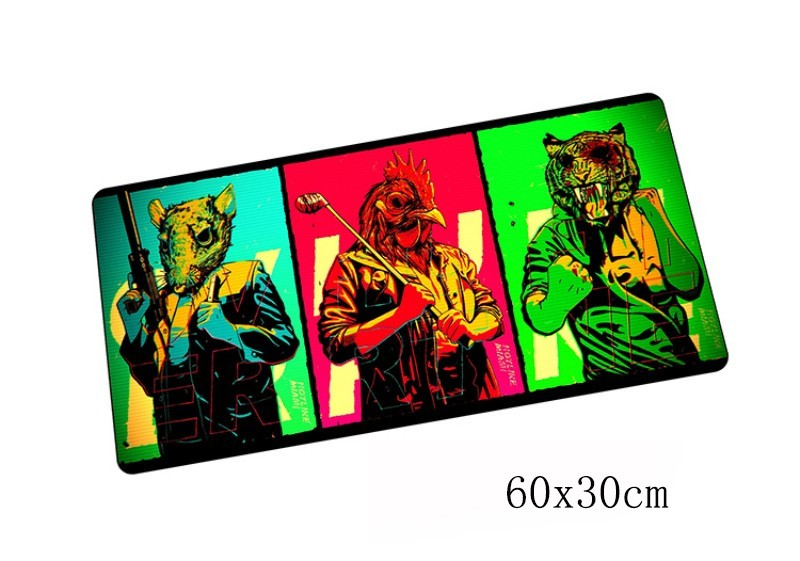 hotline miami padmouse 60x30cm pad to mouse notbook computer mousepad locked edge gaming ...