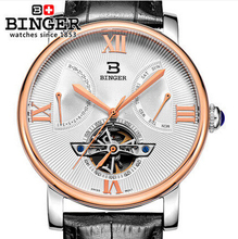 2016 New fashion Binger clock male Leather Strap Watches Men sports watch / army /Automatic Wristwatch free shipping Watch