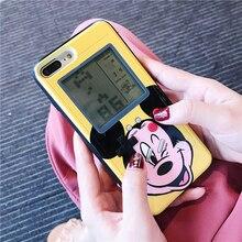 Мультфильм Игры чехол для телефона s для iPhone X XR Xs Max Mininie Микки мышь тетрис Gameboy Телефон чехол для iPhone 6 6 S 7 8 плюс принципиально