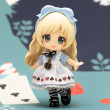 Cu-poche friends Alice Nendoroid Doll PVC Action Figure Collectible Model Toy 13CM(China)