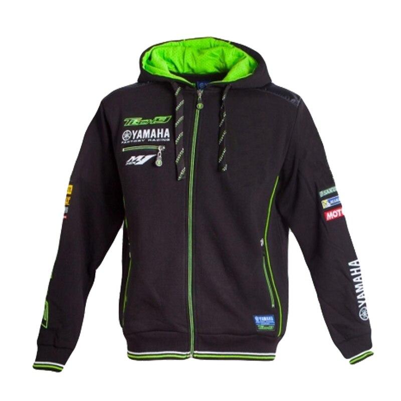 Tech 3 мотоциклетная Толстовка для YAMAHA Racing Team MotoGP черная и зеленая хлопковая толстовка на молнии куртка для мотокросса