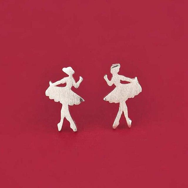 Ruifan Khuyến Mãi Bán Buôn Nhảy Múa Cô Gái 925 Sterling Silver Stud Bông Tai cho Phụ Nữ Phụ Nữ Nhỏ Bông Tai Trang Sức Mỹ YEA122