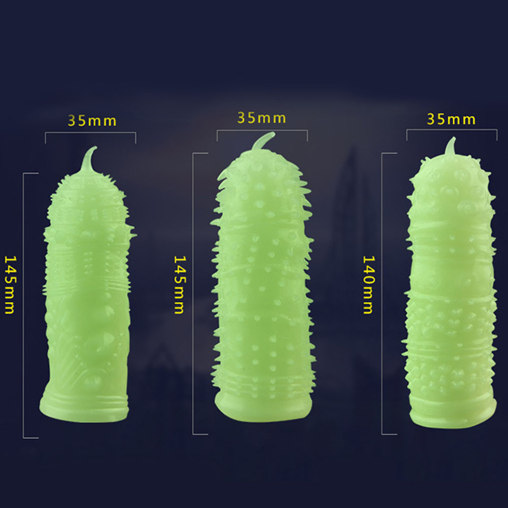 Reusable Ultrathin Condoms Fluorescence Special Condoms Medical Themed Adult Sex Toys