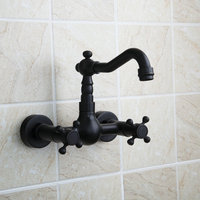 Ouboni Bathtub Faucet Torneira Wall Mounted Oil Rubbed Black Bronze 97111 Bathroom Basin Sink Faucet Mixers