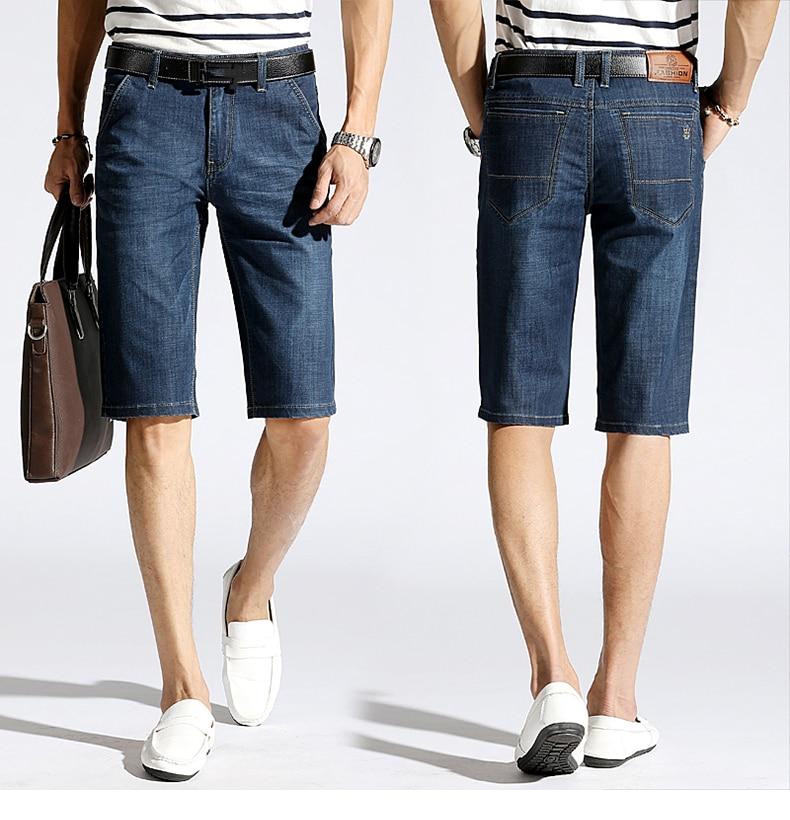 KSTUN Denim Shorts Men Jeans Ultrathin Slim Straight Black Blue Short Jeans Male Brand Clothing Businessman Shorts Jeans Homme 16