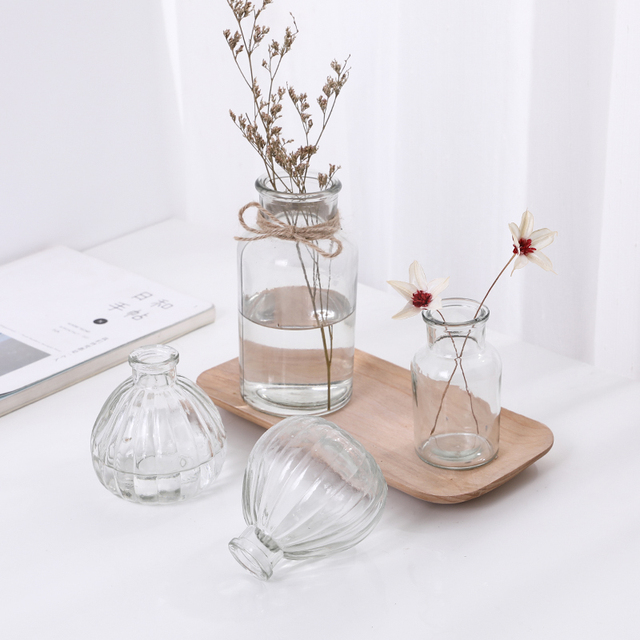 Hydroponic Plants Vase Simple Creative Glass Vase Home Decorative Table Transparent Flower Vase 3