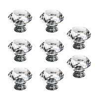 50MM 8 Pcs Knob Crystal For Wall Cabinet Drawer Wardrobe Cabinets Kitchen Furniture Damage Brightness To