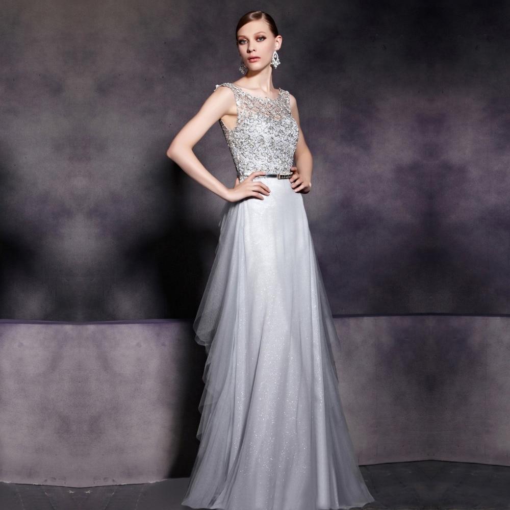 Silver Grey Lace Wedding Dresses