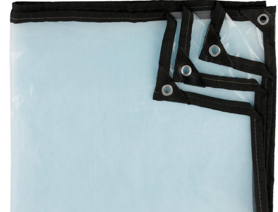 Thin 2mX2m 60% Transparent Outdoor Cover, Waterproof Tarp, Transluce Rain Tarpaulin.greenhouse Plastic Material.