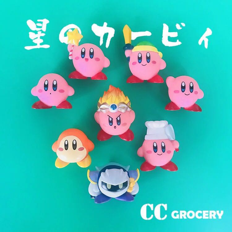 8pcs/lot Q version Kirby Pop PVC Action Figure Collectible Kirby ...