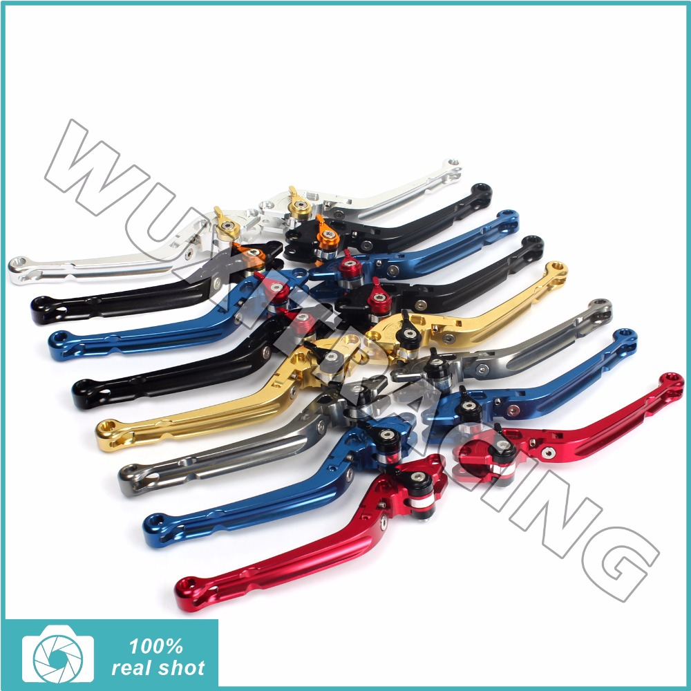Aluminum Alloy Long Folding CNC Billet Adjustable Brake Clutch Levers for BMW S1000RR  S 1000 RR 2010 2011 2012 2013 2014 10-14 bikingboy adjustable new set cnc billet short folding brake clutch levers for yamaha yzf r1 1000 2009 2014 2010 2011 2012 2013