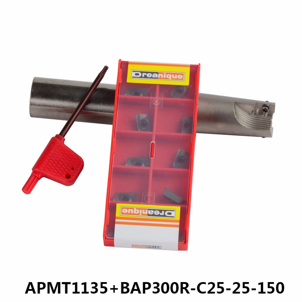 BAP-300R C25-25-150 with 10pcs APMT1135 LENGTH 150 Milling tool holder face mill for cnc milling machine for insert APMT1135  цена и фото