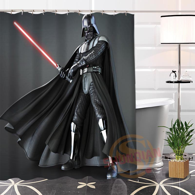 100 Polyester Custom Popular Darth Vader2 Fabric Modern Shower Curtain Bathroom Waterproof New Arrival H0223 1 In Curtains From Home Garden On