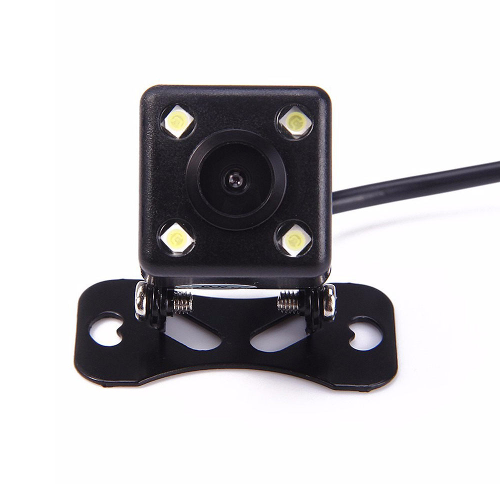 HaoMing Sci-Tech Store 170 Degree 4 LED Lamp Night Vision Car Parking Rear View Camera Reversing Backup Waterproof HD CCD Sensor