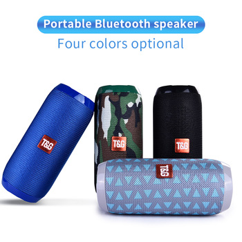 TG117 Bluetooth Outdoor Speaker Waterproof Portable Wireless Column Loudspeaker Box Support TF Card FM Radio Aux Input 1