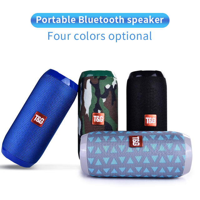 TG117 Bluetooth Outdoor Speaker Waterproof Portable Wireless Column Loudspeaker Box Support TF Card FM Radio Aux Input
