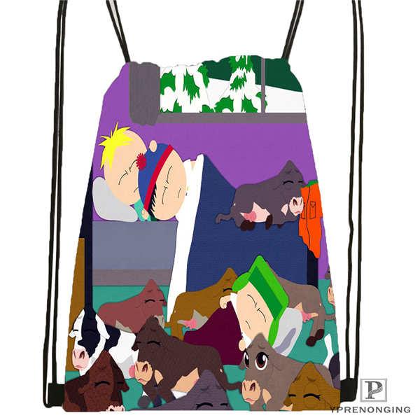 Custom South-park- Drawstring Backpack Bag Cute Daypack Kids Satchel (Black Back) 31x40cm#2018612-01-(6)