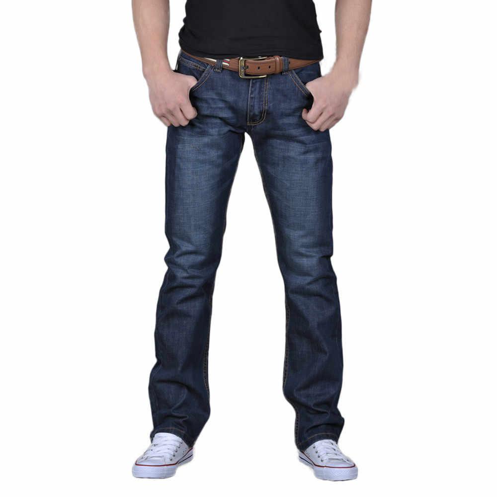 825bc541f New Men Jeans Pants Slim Fit Men's Casual Autumn Denim Cotton Hip Hop Loose  Work Long