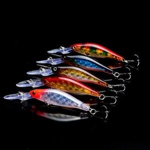 Image 2 - Nouveau 5 pièces/lot ensemble de leurre de pêche vairon manivelle Pesca Isca artificiel dur appât matériel de pêche Wobblers Laser interne 95mm 7g