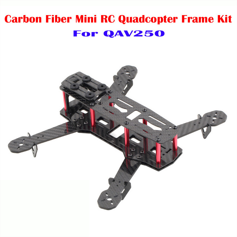 Hot Full Carbon Fiber Frame Starter Kit 4 Axis for QAV250 Mini RC Quadcopter Helicopter With Free Gift Screwdriver 250 quadcopter full carbon fiber frame kit rtf quadcopter with remote controller