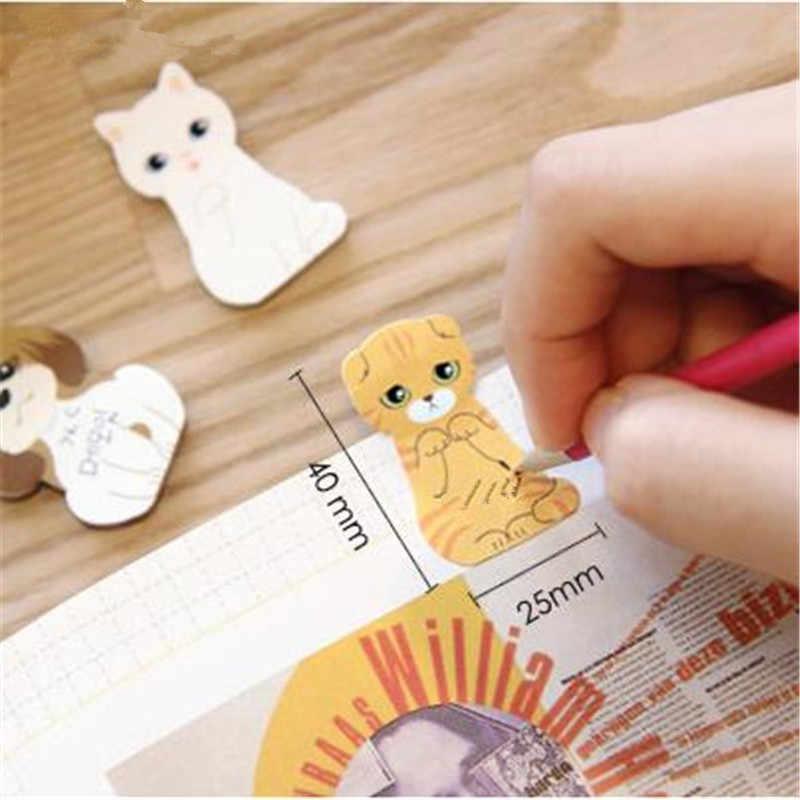 1 pièces kawaii chat pad note papier bloc-notes dessin animé mignon Carton chat chien Compact bloc-notes Note collante coréen papeterie YOUE SHONE