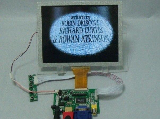 HDMI+VGA+2AV Controller Driver Board with 8inch AT080TN52 800*600 LCD Panel