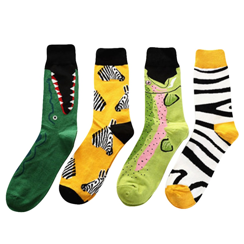 Underwear & Sleepwears Sporting Originality Pattern Mens Socks Fashion Men Sock Cotton Colorful Couples Socks Animal Jacquard Weave Male Sock Sales Of Quality Assurance