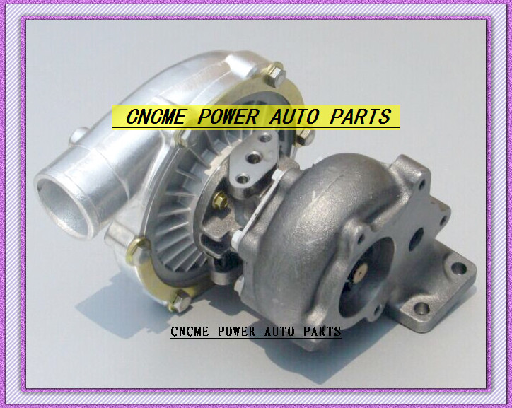 TURBO T3 T4 T3T4 TO4E 5 bolt AR .63 comp AR .50 no wastegate water cooled Turbocharger For Universal Cars 170-155kW- (2)